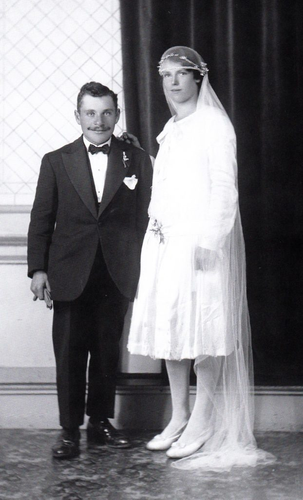 Photographie de couple (Pellerin) - Studio Édeline, 1928