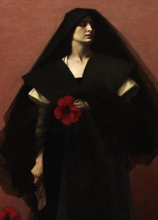 Alfred AGACHE - Énigme (détail) Huile sur toile, 1888 - Musée des Beaux-Arts de Rouen