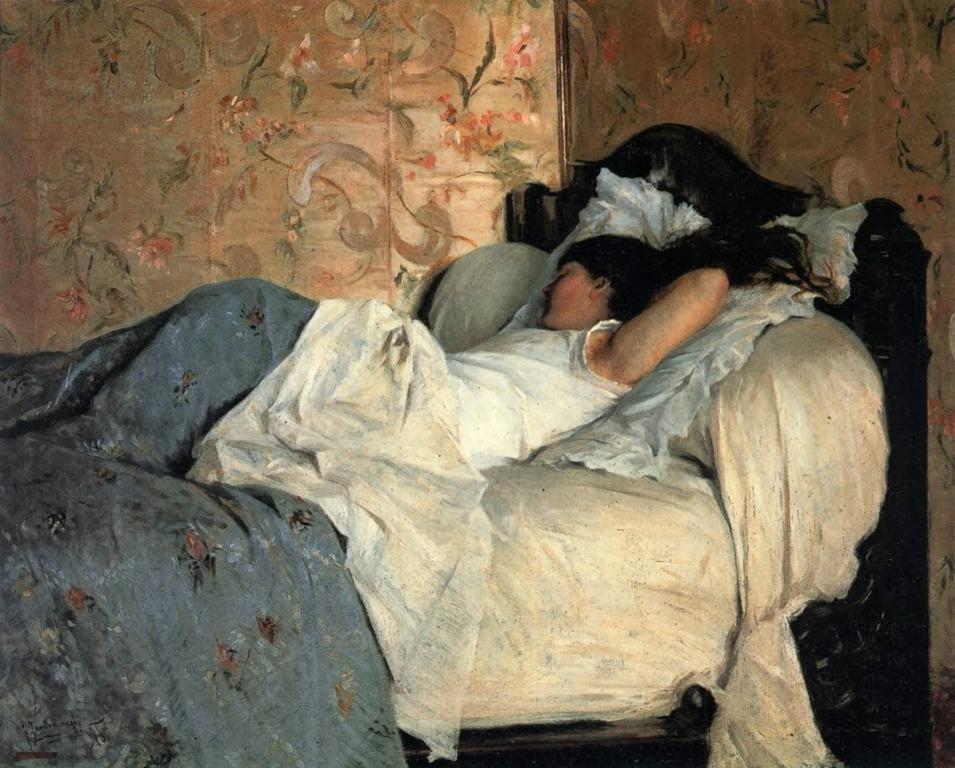 Jeune fille au lit
