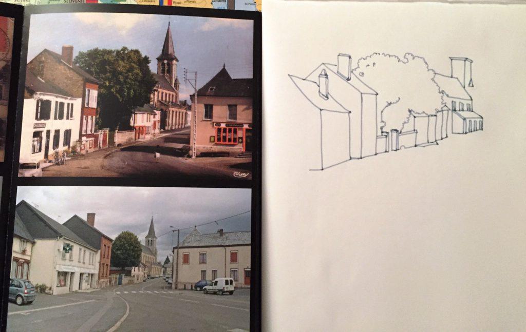 MarieGrancey_Village_feutre1