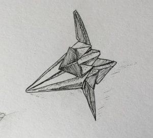 Marie_Grancey_Origami_feutre_noir