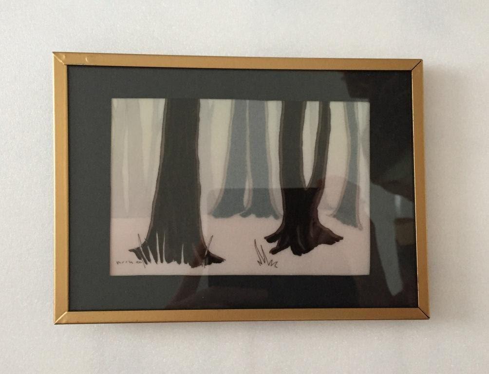 Diorama ombres chinoises au feutre - Thème forêt